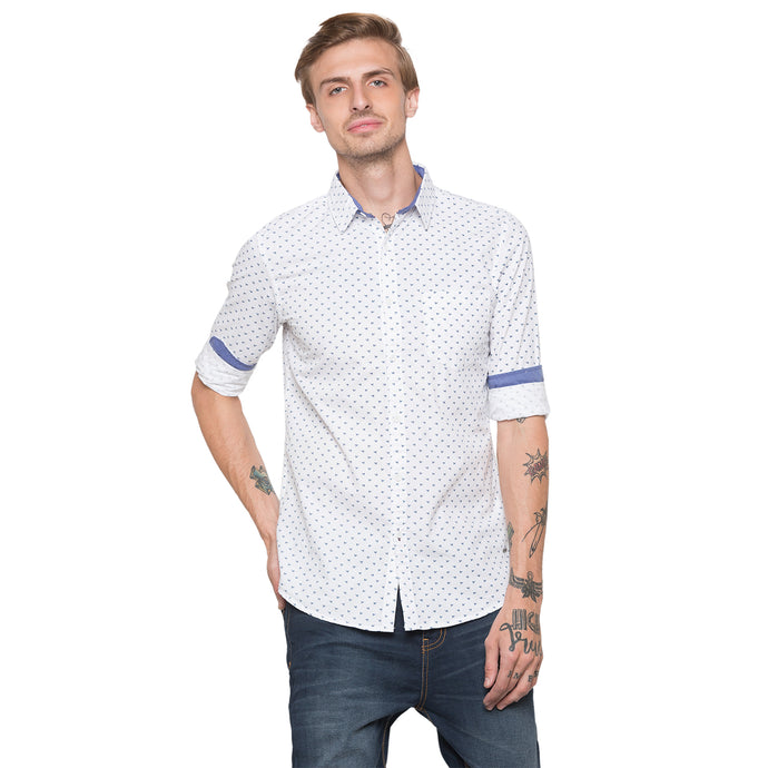 Globus White Printed Shirt-1