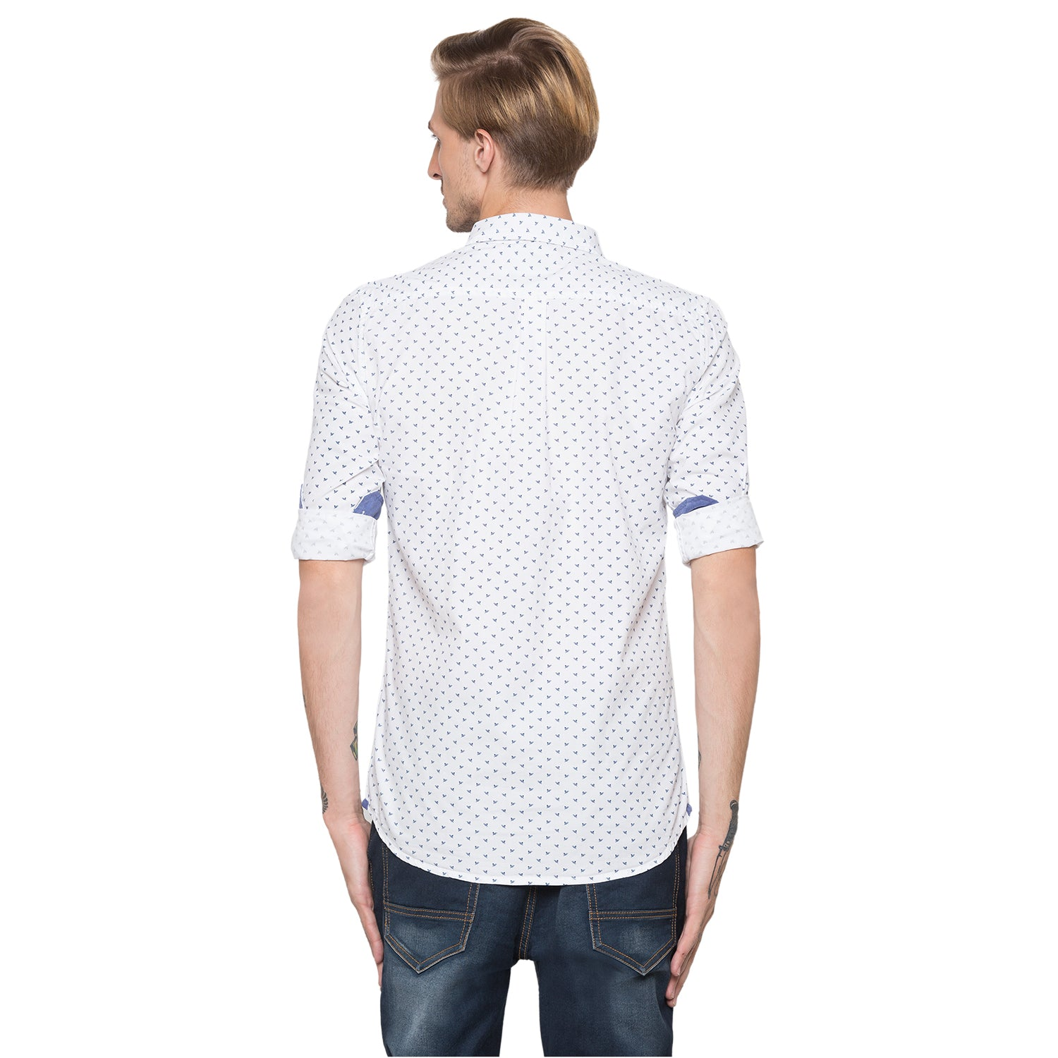 Globus White Printed Shirt-3