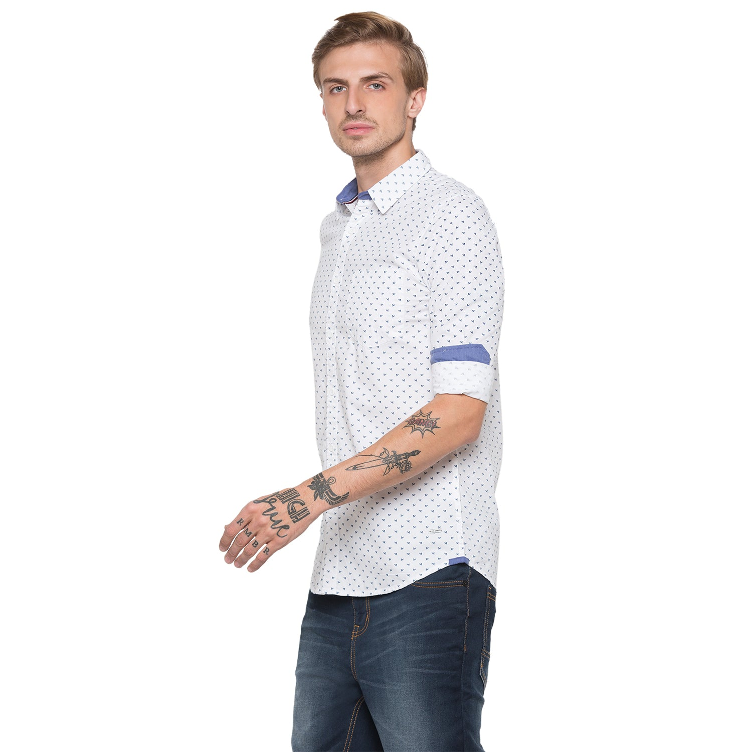 Globus White Printed Shirt-2