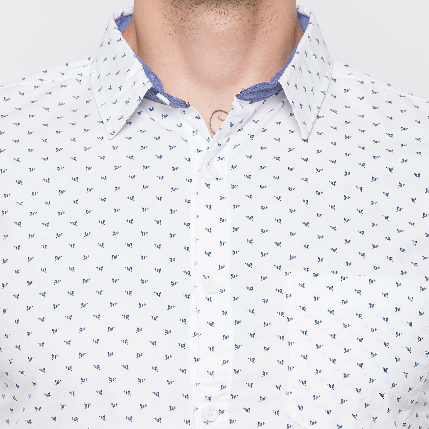 Globus White Printed Shirt-5