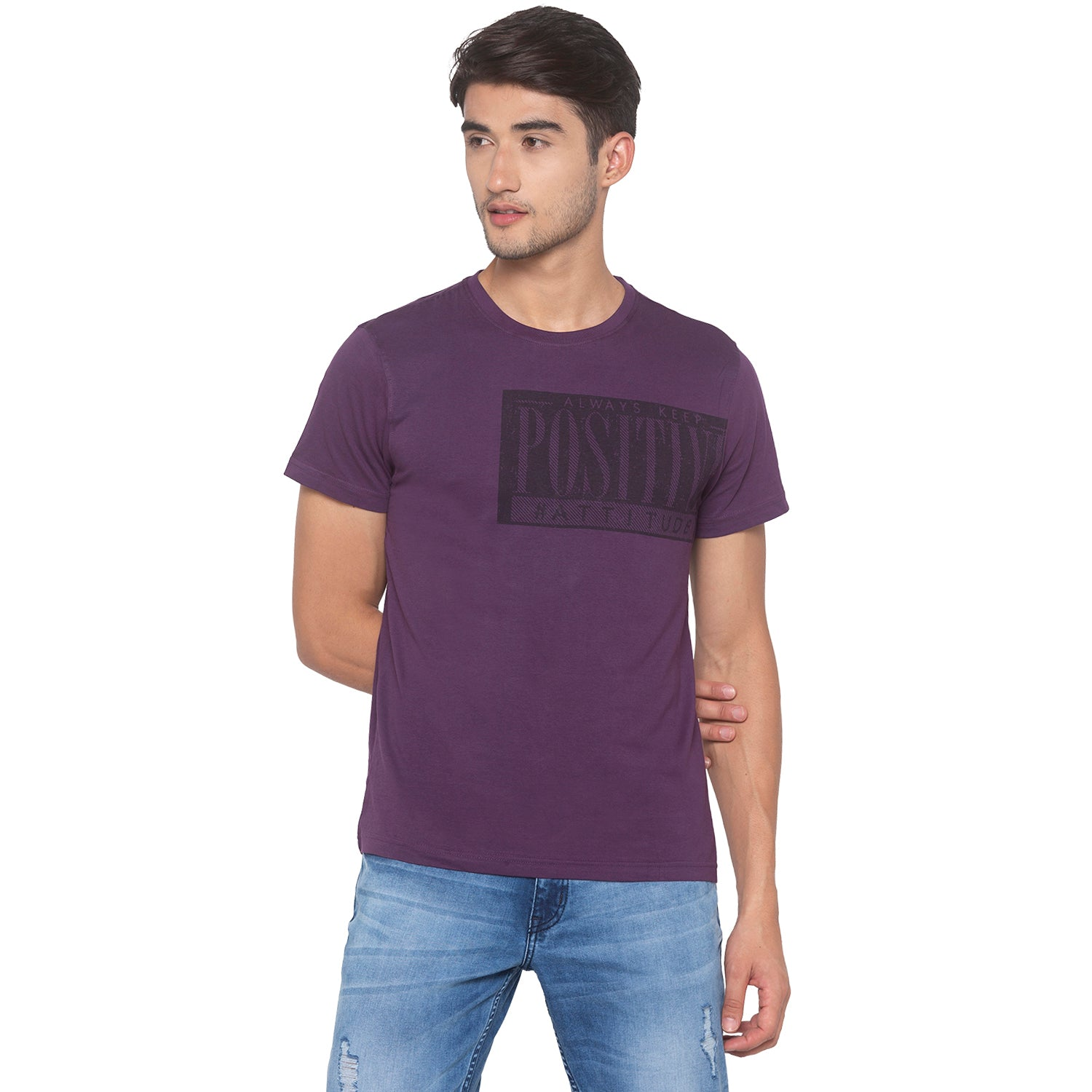 Purple Printed T-Shirt-1