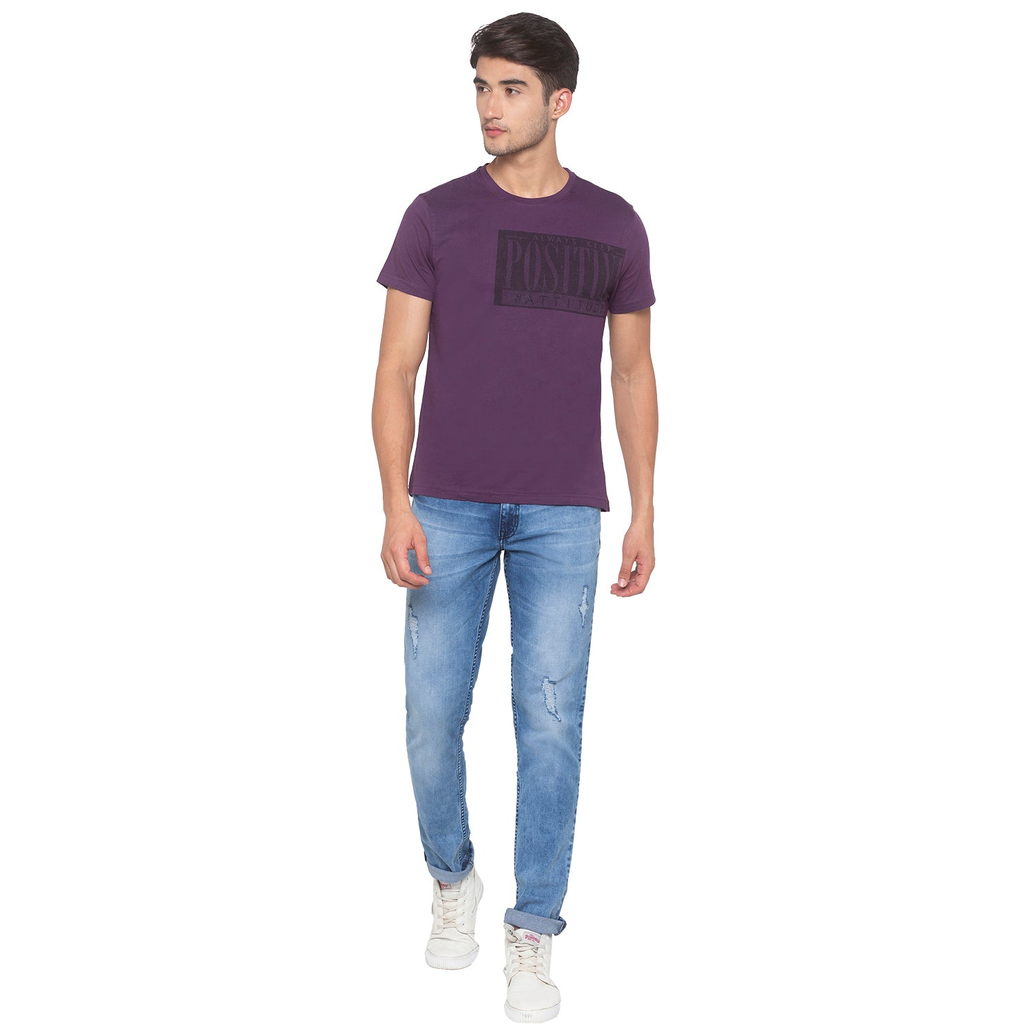 Purple Printed T-Shirt-4