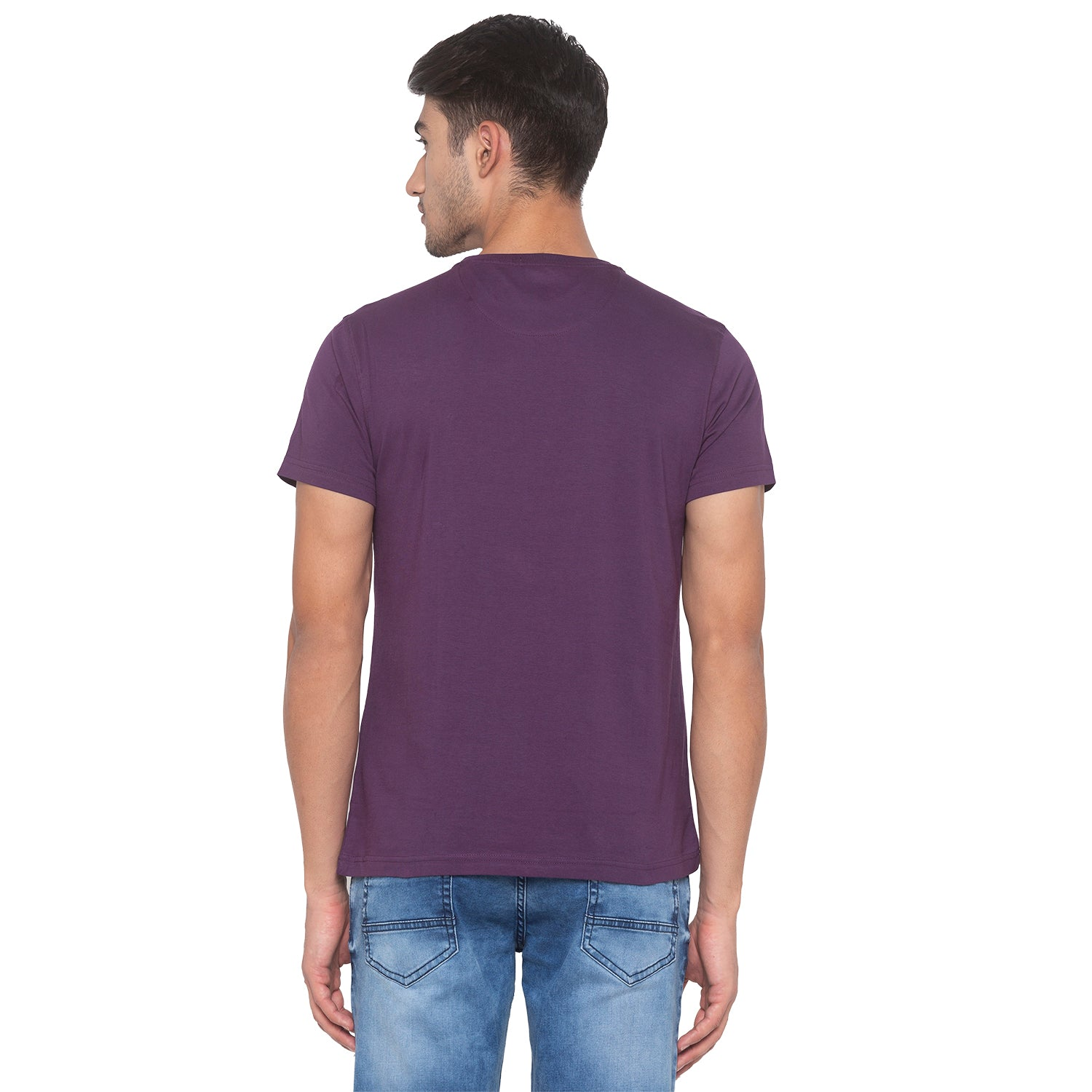 Purple Printed T-Shirt-3