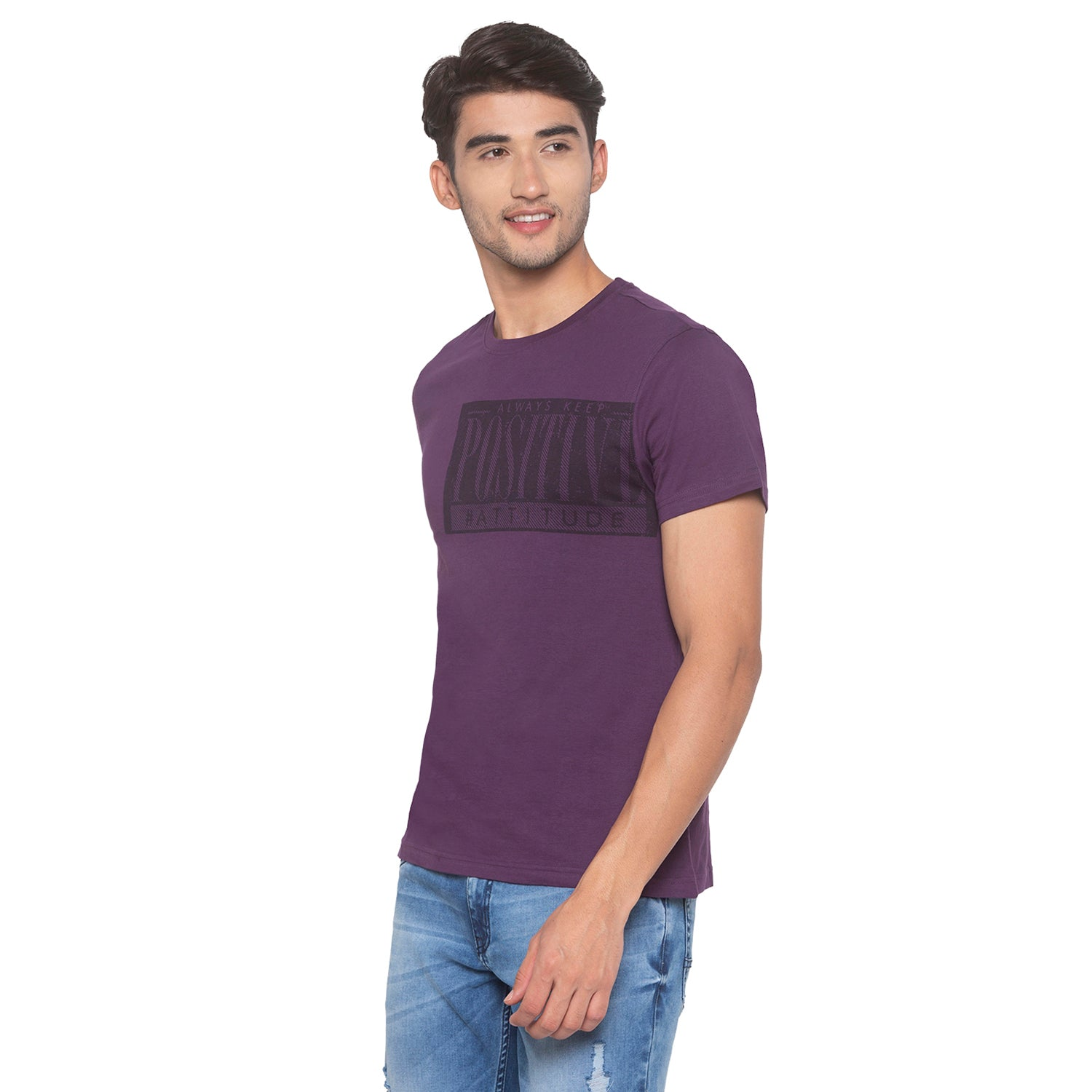 Purple Printed T-Shirt-2