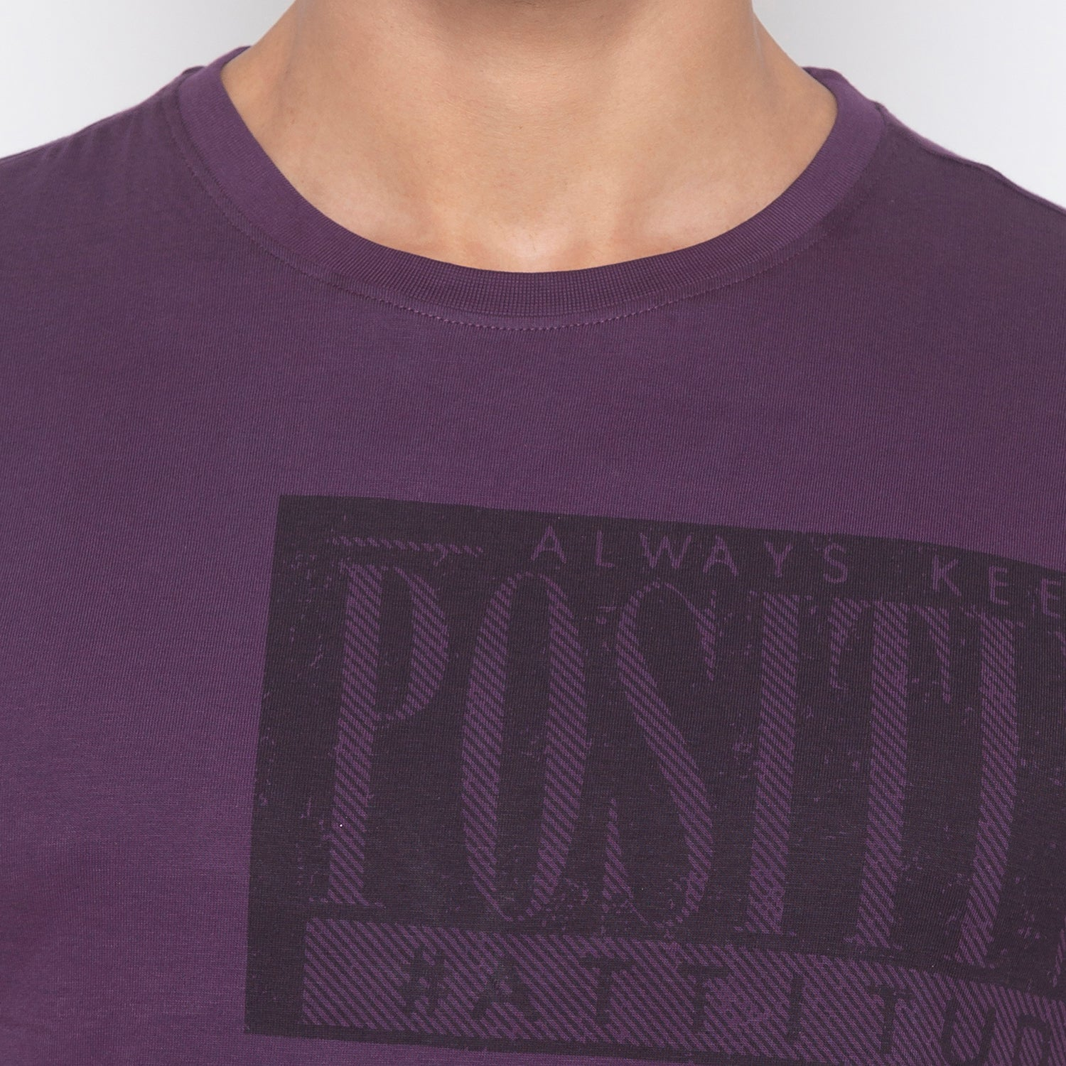 Purple Printed T-Shirt-5