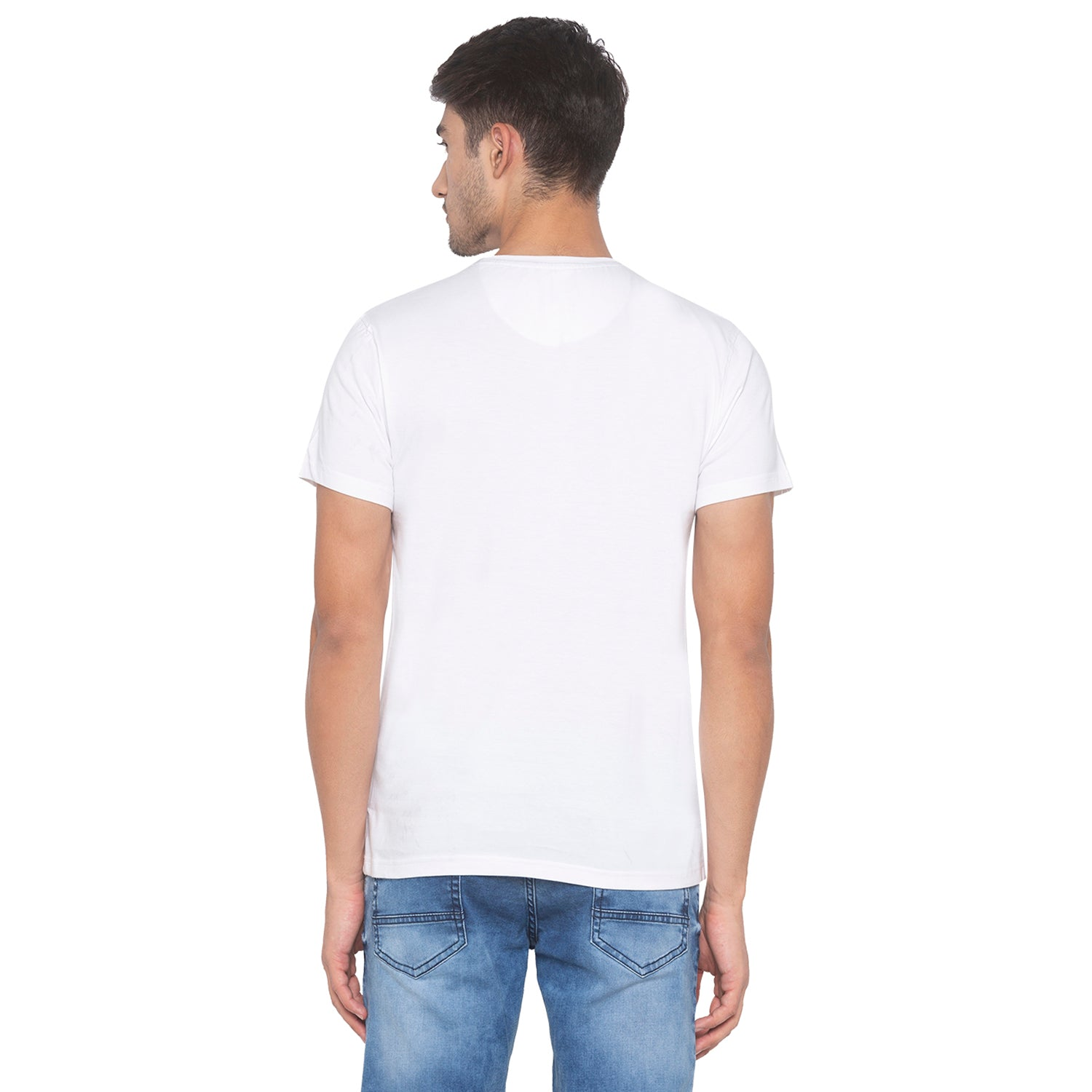 White Printed T-Shirt-3
