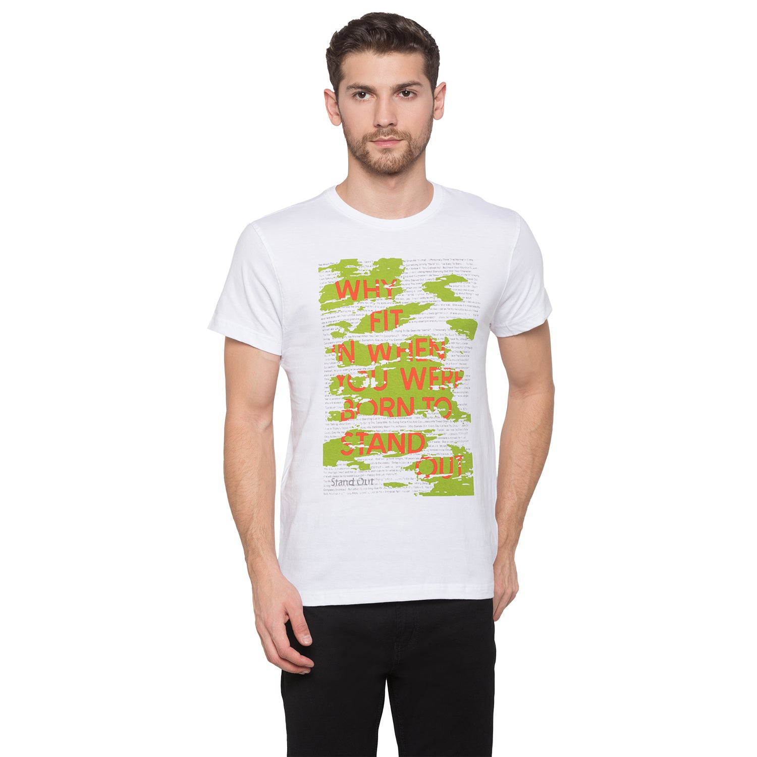 Globus White Graphic T-Shirt1