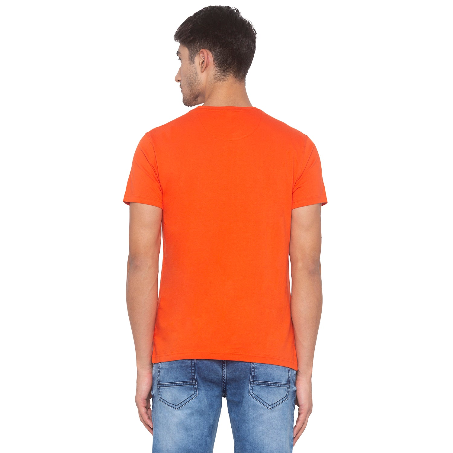 Orange Printed T-Shirt-3