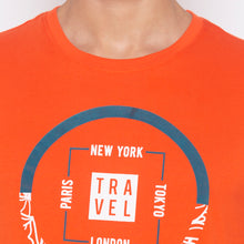 Load image into Gallery viewer, Orange Printed T-Shirt-5