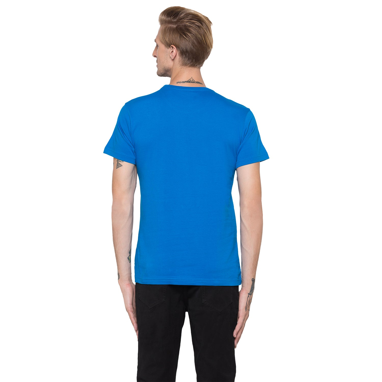 Globus Blue Printed T-Shirt-3