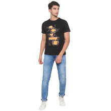 Load image into Gallery viewer, Black Printed T-Shirt-4