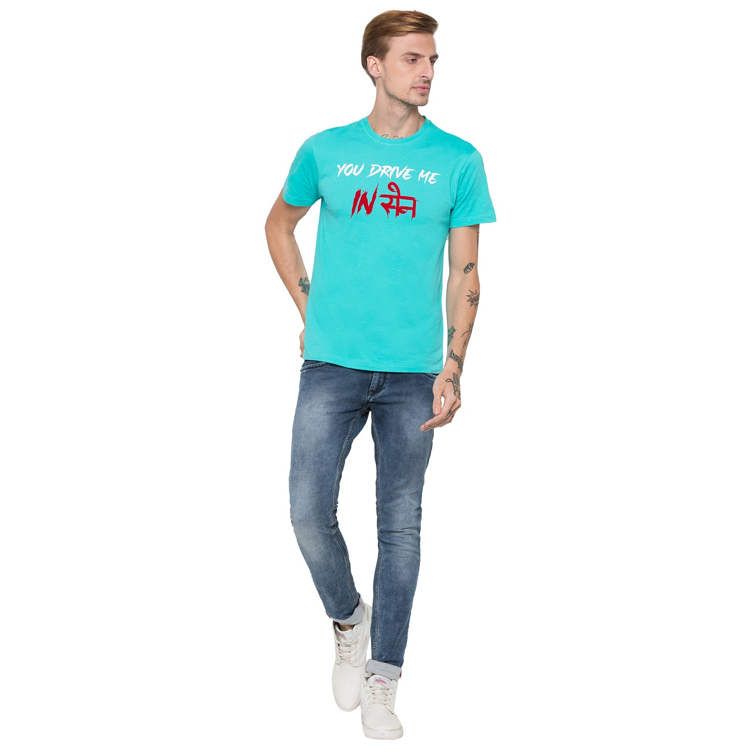 Globus Green Printed T-Shirt-4
