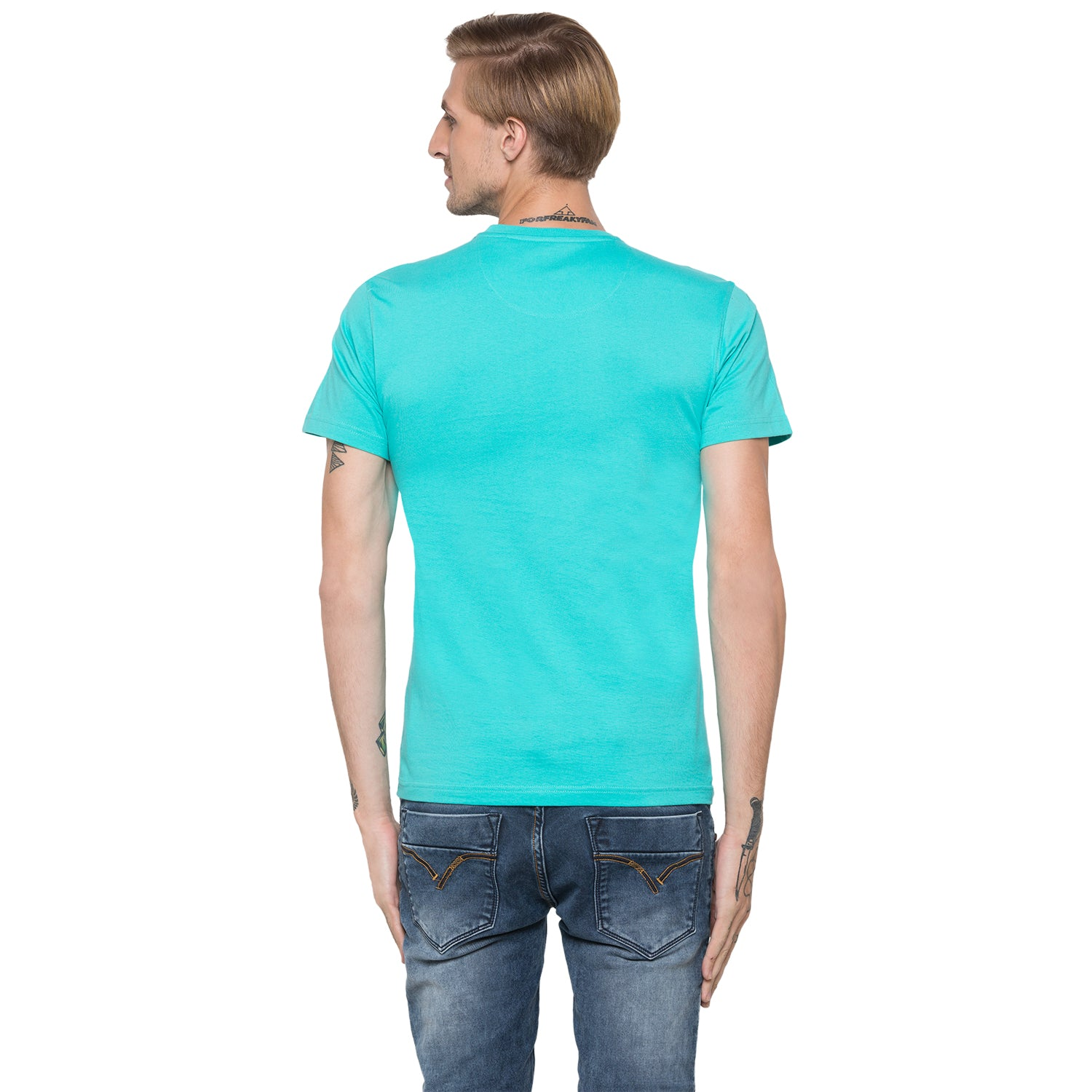 Globus Green Printed T-Shirt-3