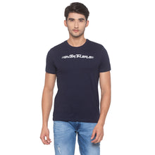 Load image into Gallery viewer, Navy Blue Printed T-Shirt-1