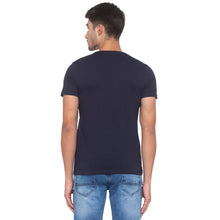 Load image into Gallery viewer, Navy Blue Printed T-Shirt-3