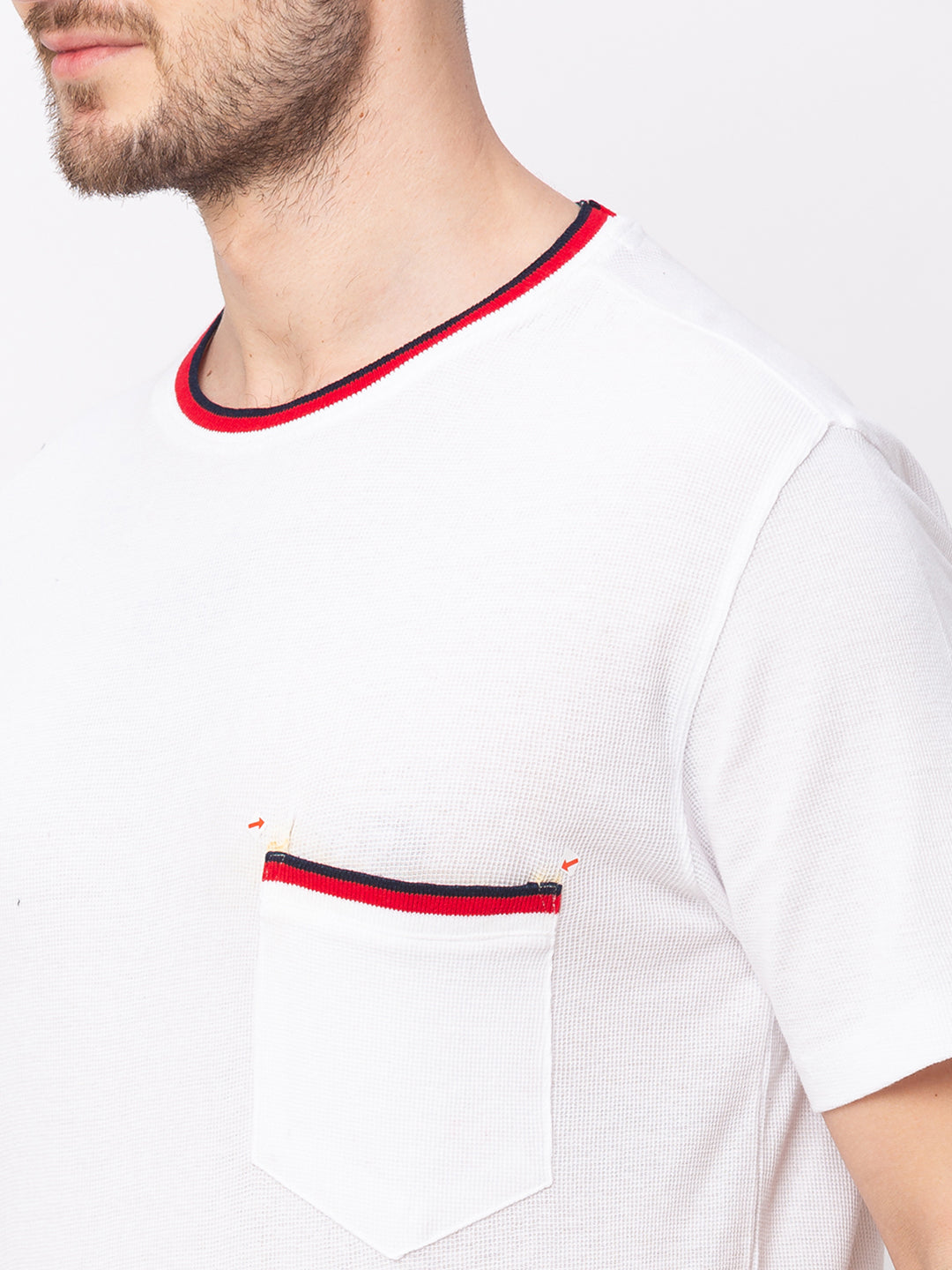 Globus White Solid T-Shirt-4
