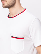 Load image into Gallery viewer, Globus White Solid T-Shirt-4