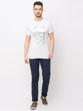 Load image into Gallery viewer, Globus White Printed T-Shirt-5