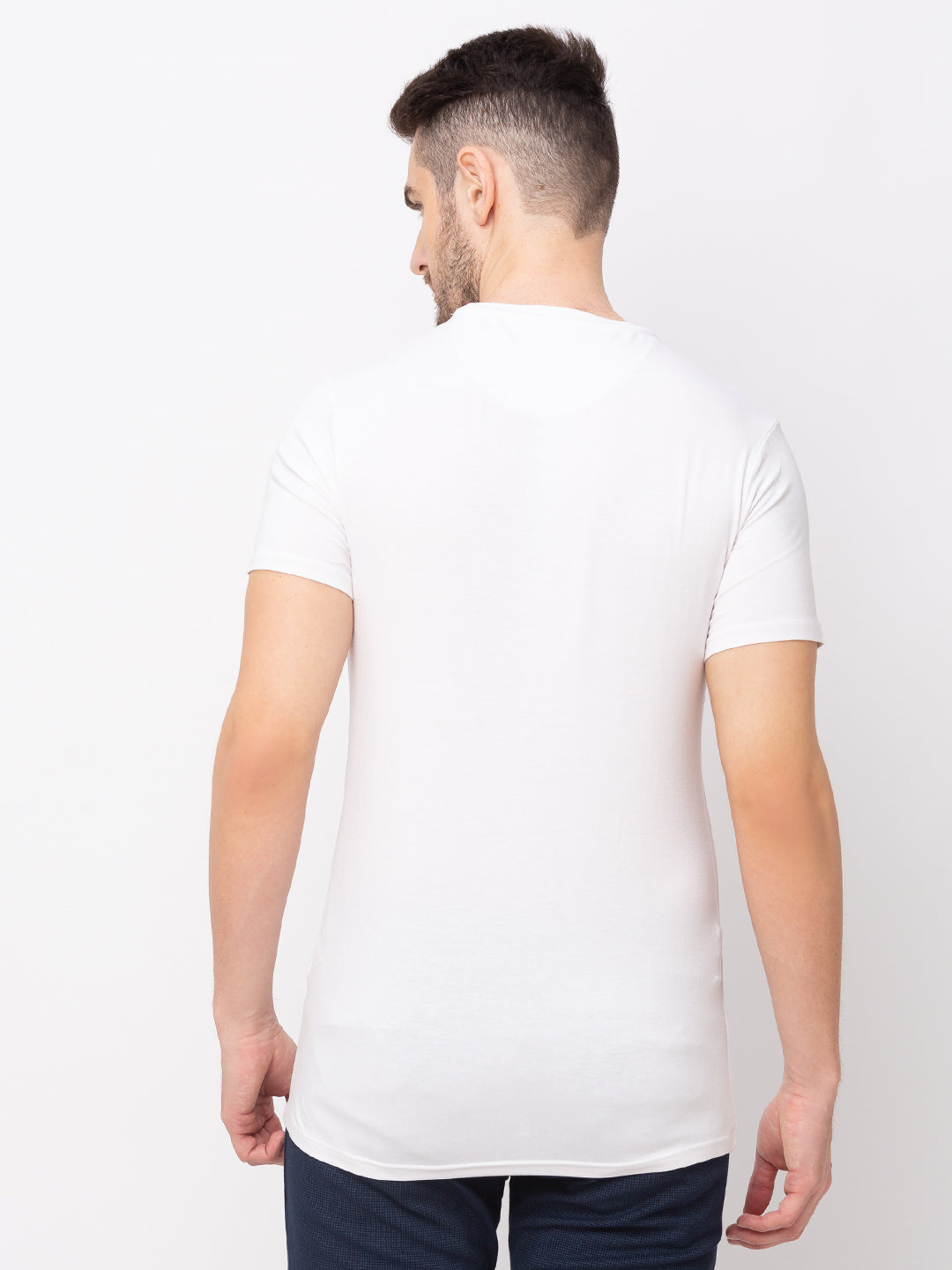 Globus White Printed T-Shirt-3