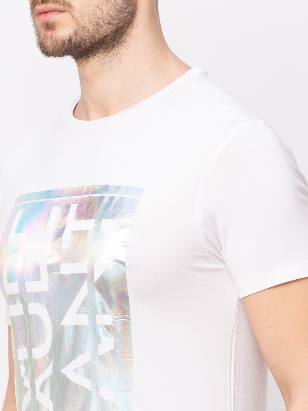 Globus White Printed T-Shirt-4