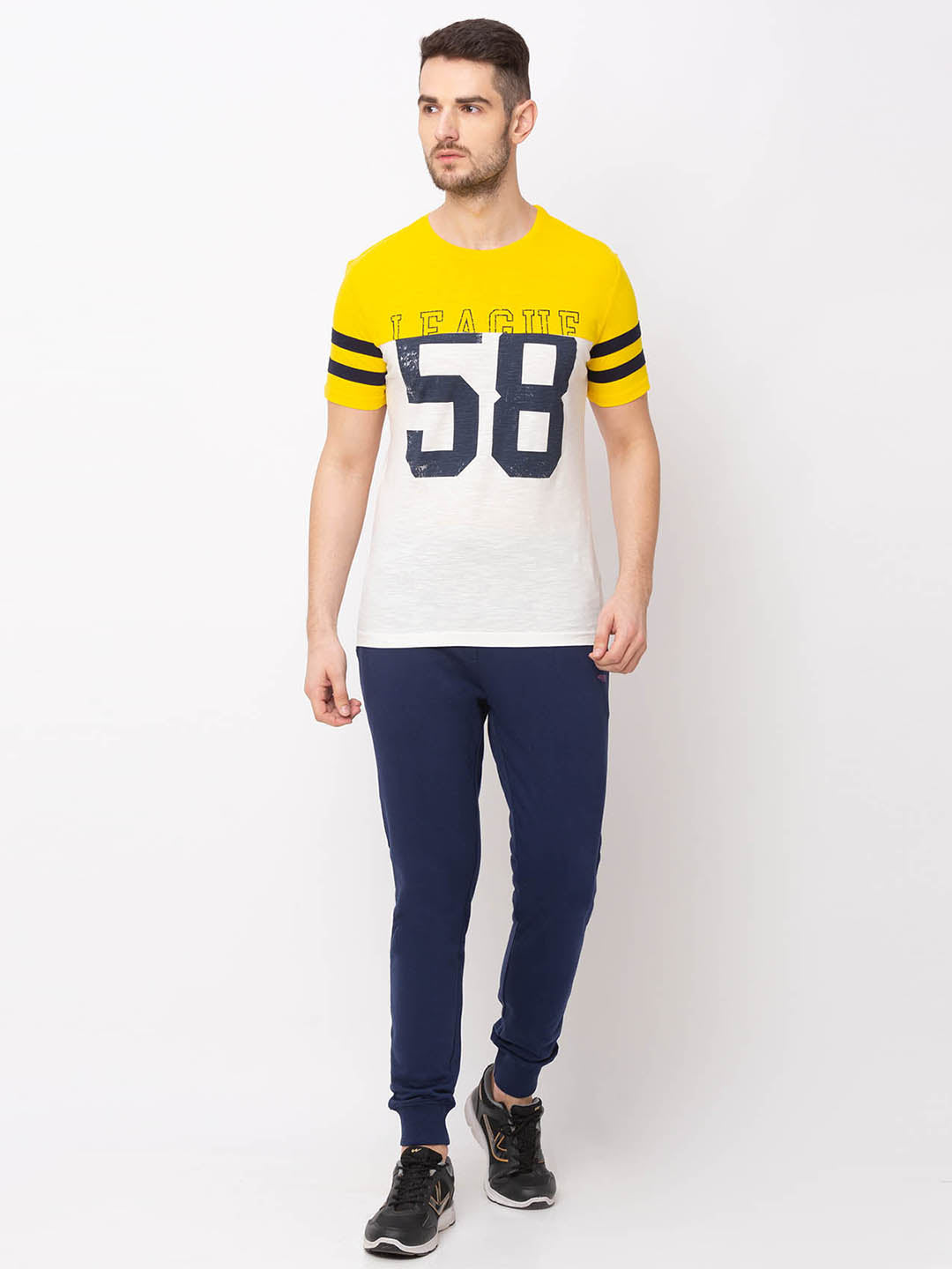 Globus Yellow Printed T-Shirt-5