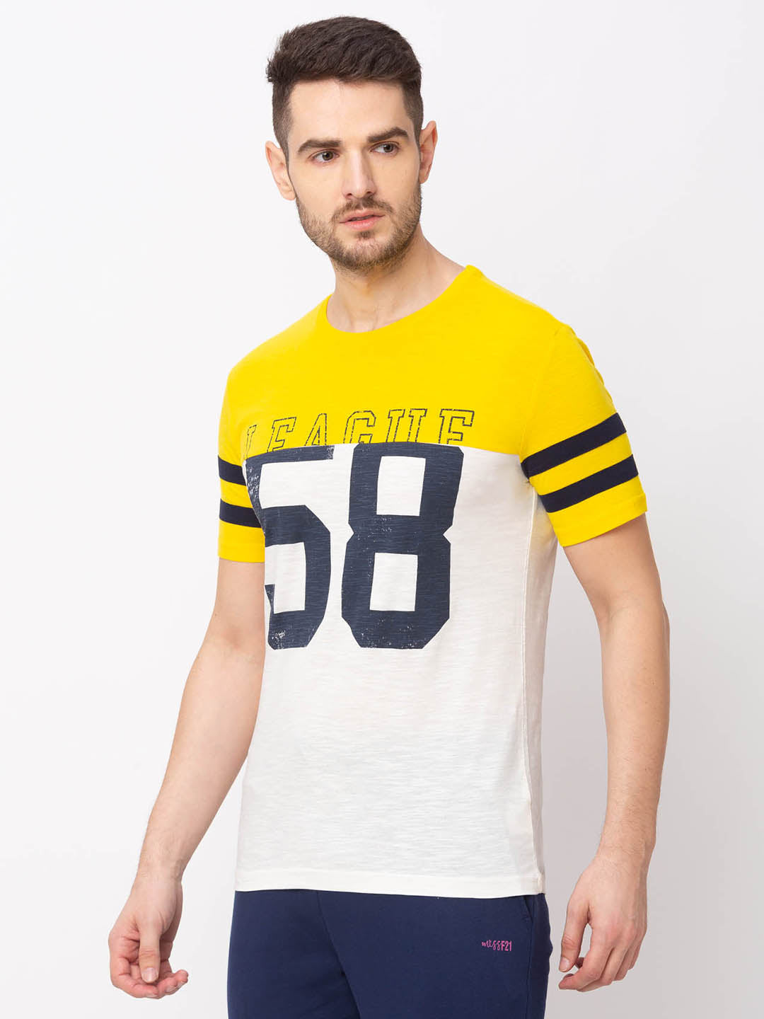Globus Yellow Printed T-Shirt-2
