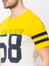 Load image into Gallery viewer, Globus Yellow Printed T-Shirt-4