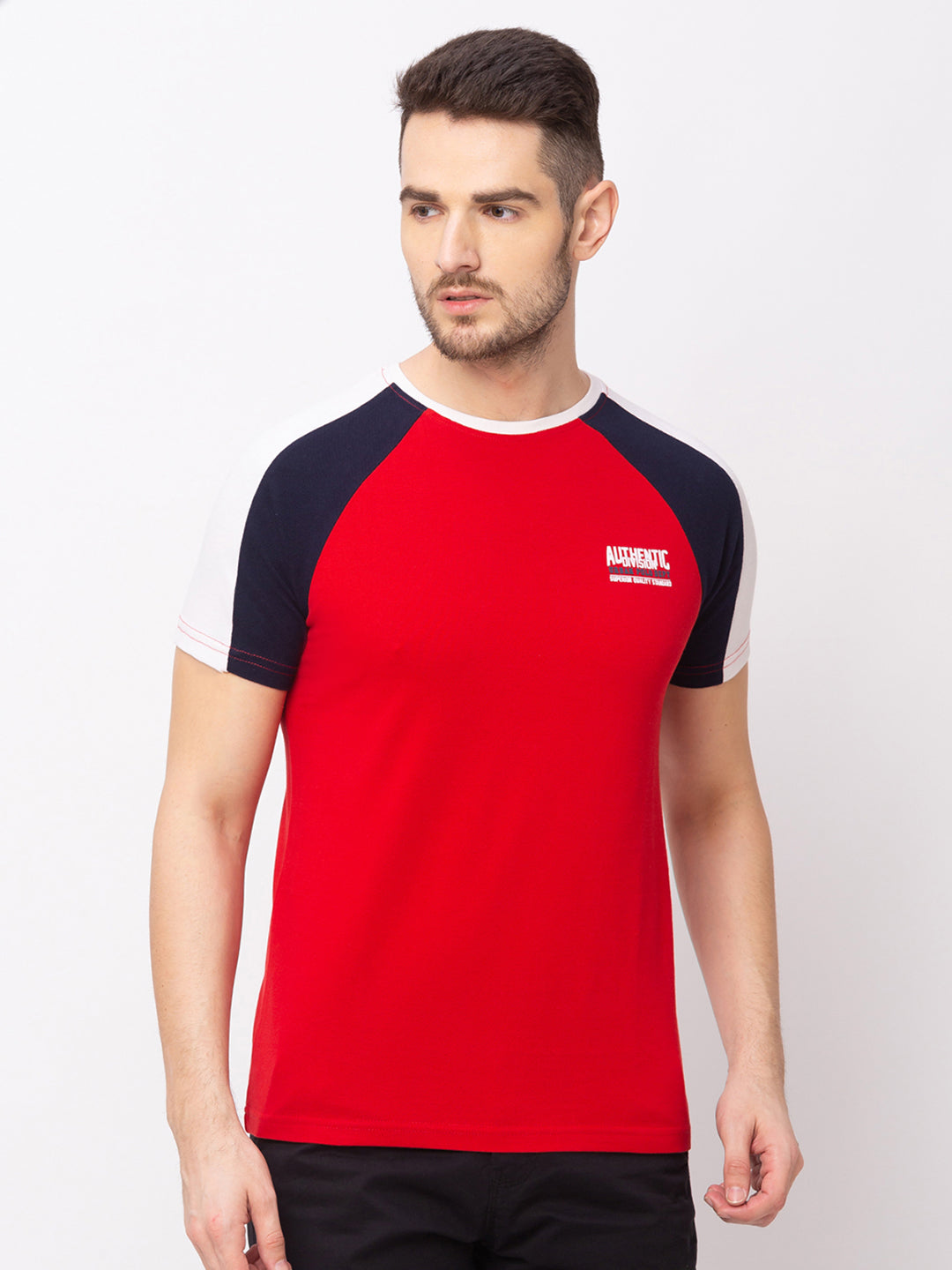 Globus Red Solid T-Shirt-1