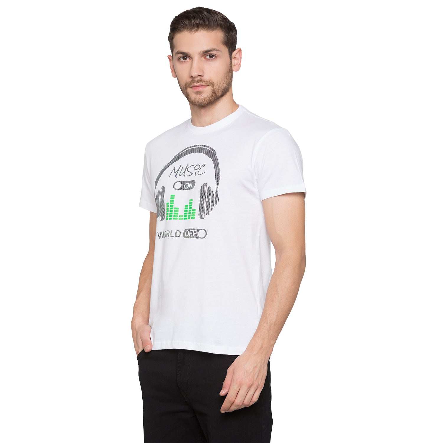 Globus White Graphic T-Shirt2