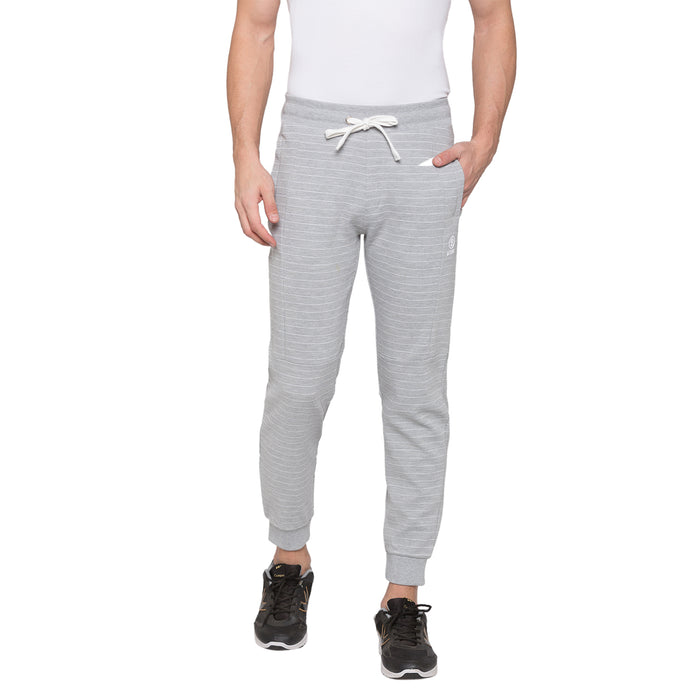 Globus Grey Melange Striped Joggers1