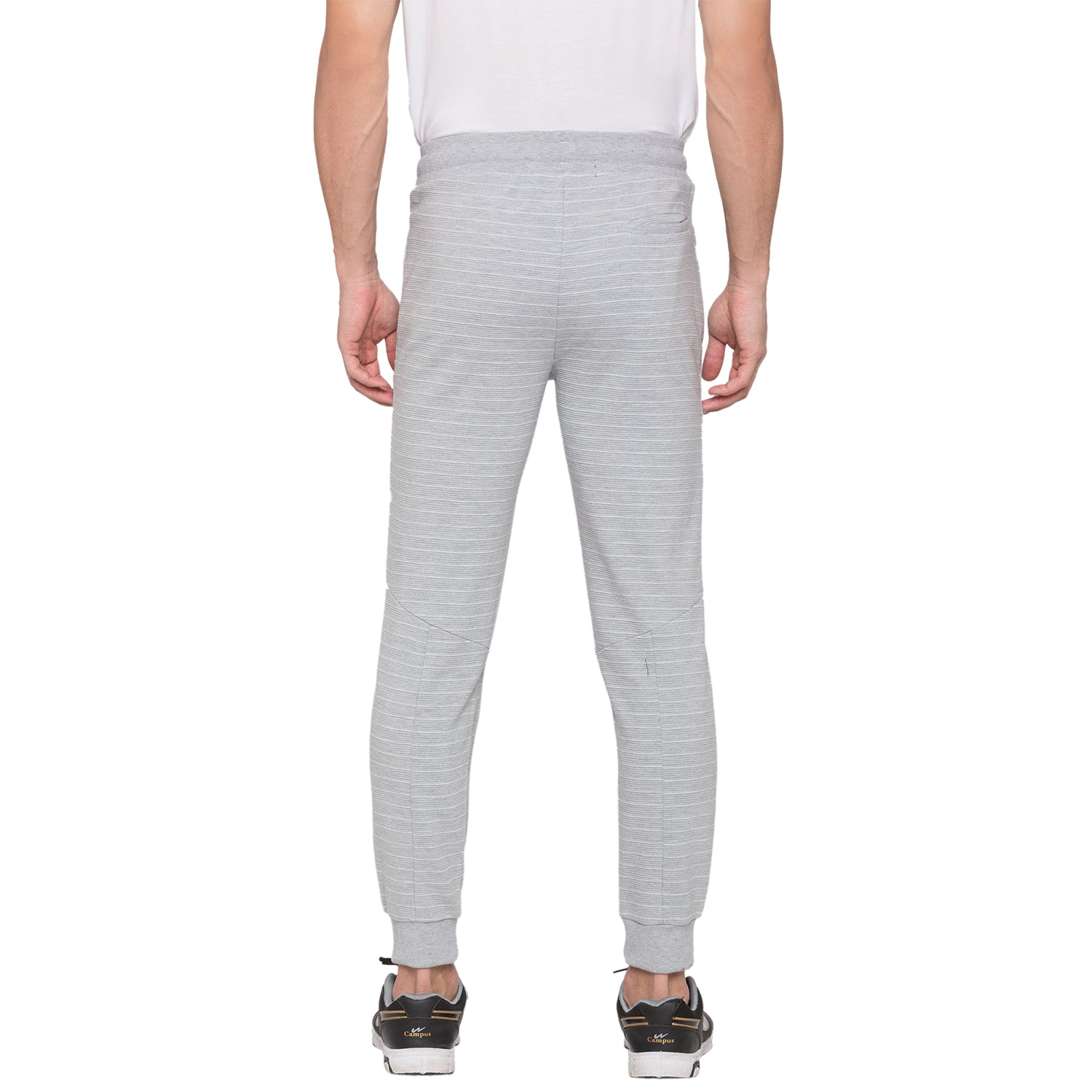 Globus Grey Melange Striped Joggers3