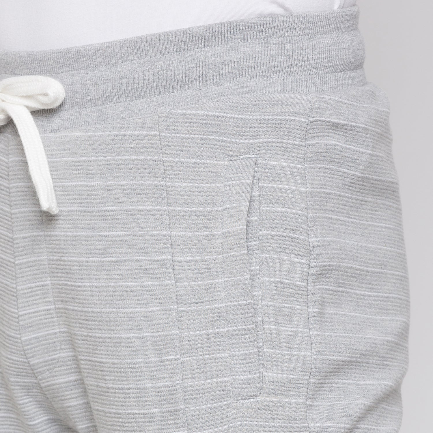 Globus Grey Melange Striped Joggers5