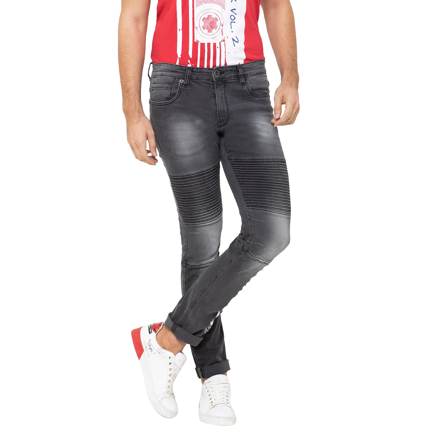 Globus Charcoal Washed Clean Look Jeans-6