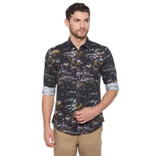 Load image into Gallery viewer, Globus Black Printed Shirt1