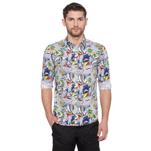 Load image into Gallery viewer, Globus White Printed Shirt1