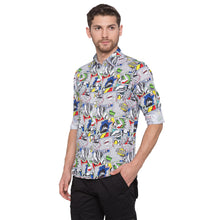 Load image into Gallery viewer, Globus White Printed Shirt2