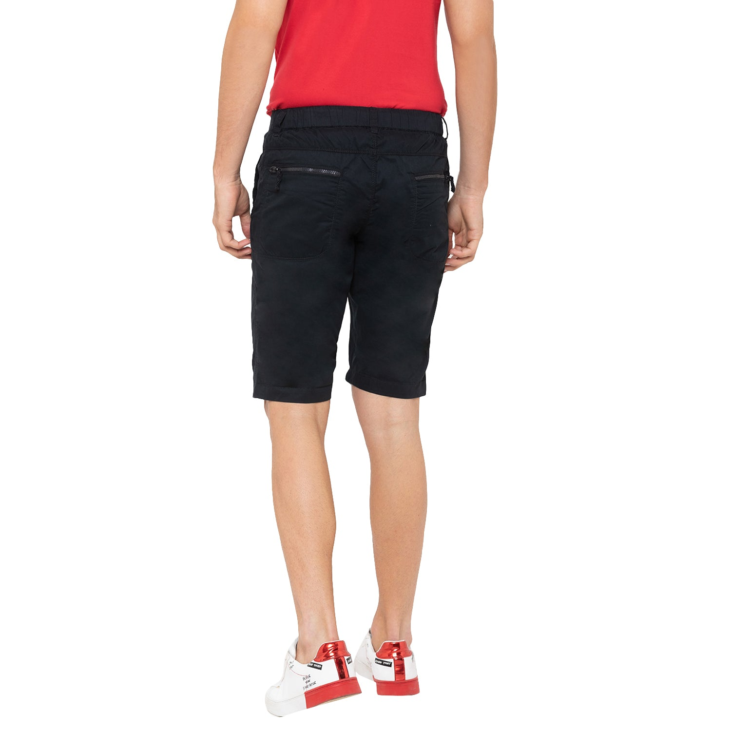 Globus Black Solid Shorts-3
