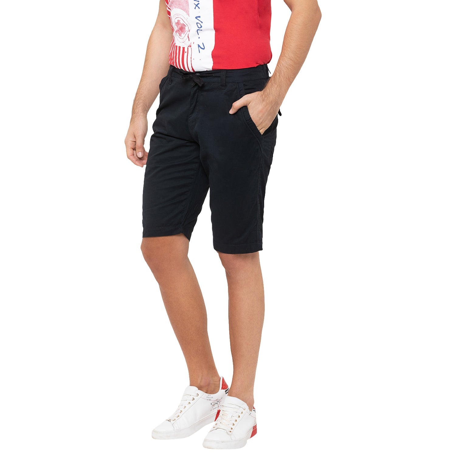 Globus Black Solid Shorts-6