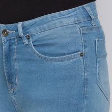 Load image into Gallery viewer, Blue Solid High-Rise Jeans-5
