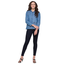 Load image into Gallery viewer, Navy Solid High-Rise Jeans-2