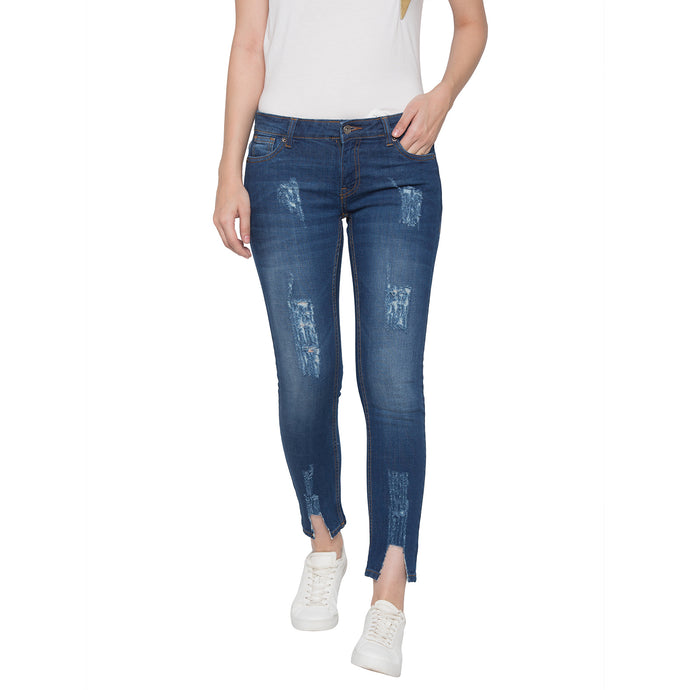 Globus Blue Washed Mildly Distressed Jeans-1