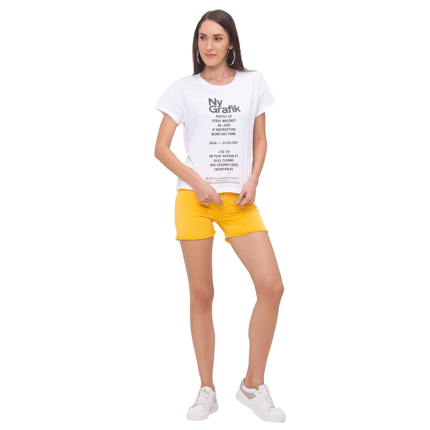Globus Yellow Solid Shorts-4
