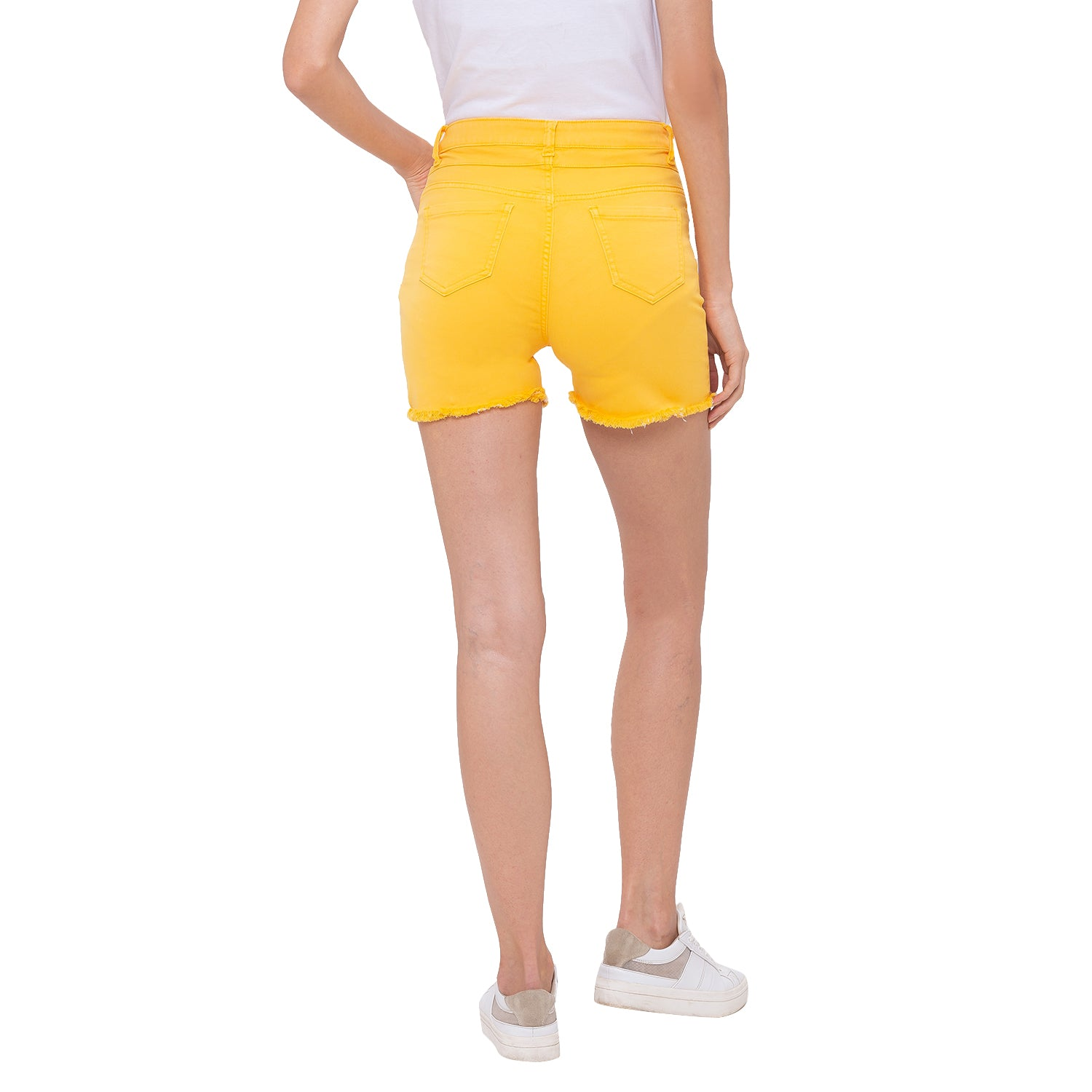 Globus Yellow Solid Shorts-3