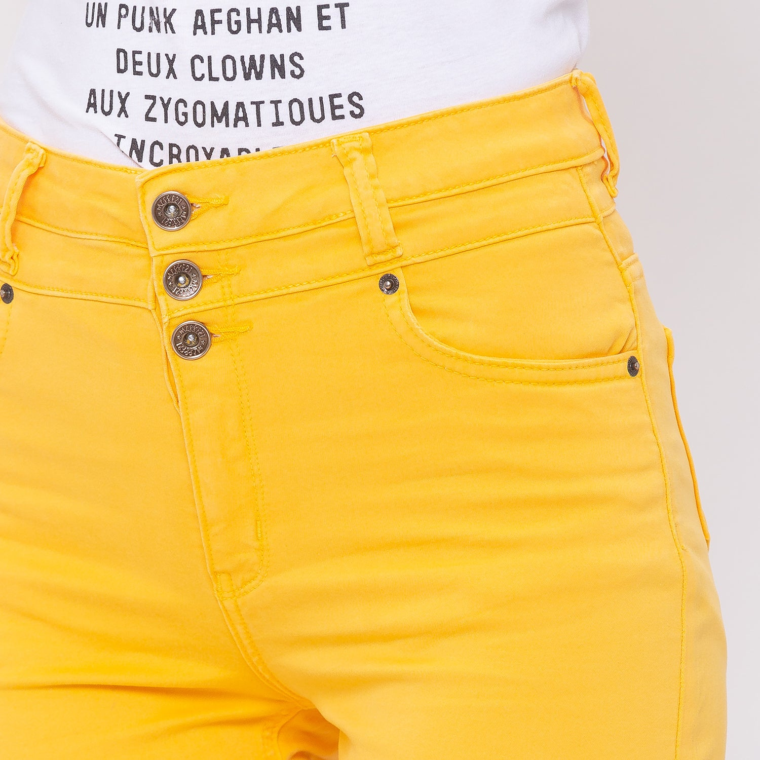 Globus Yellow Solid Shorts-5