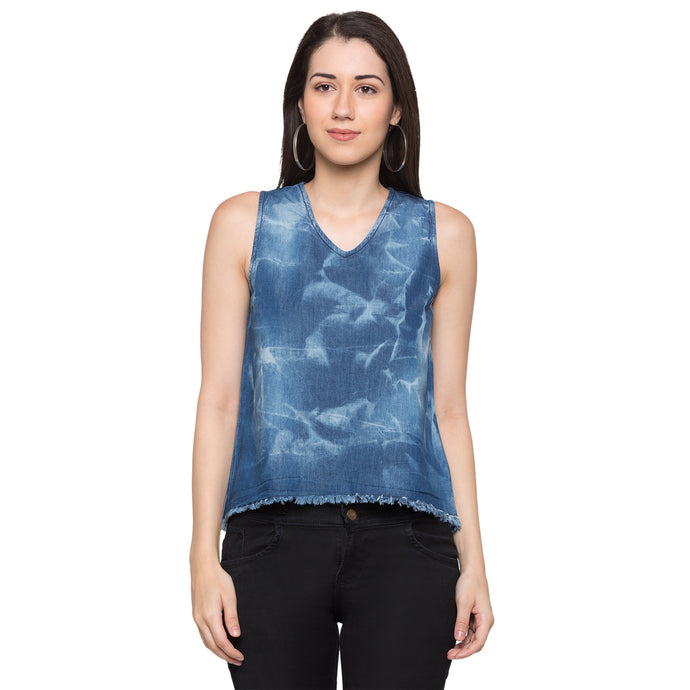 Globus Blue Printed Top1