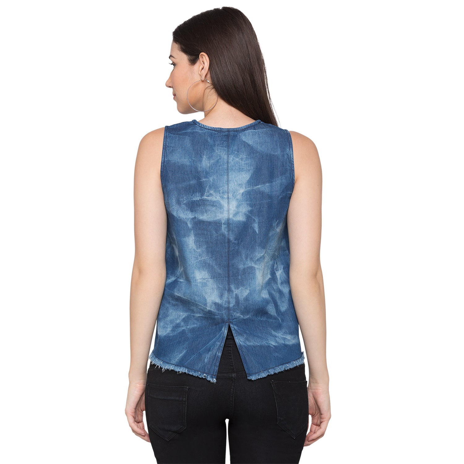 Globus Blue Printed Top3