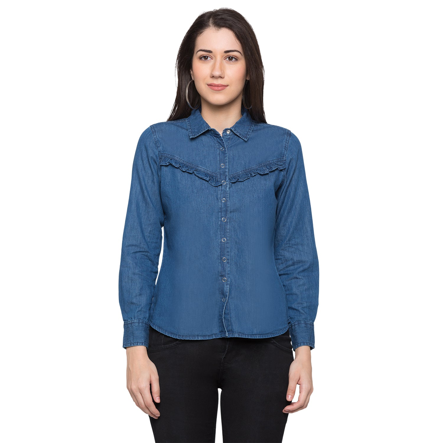 Globus Blue Solid Shirt1