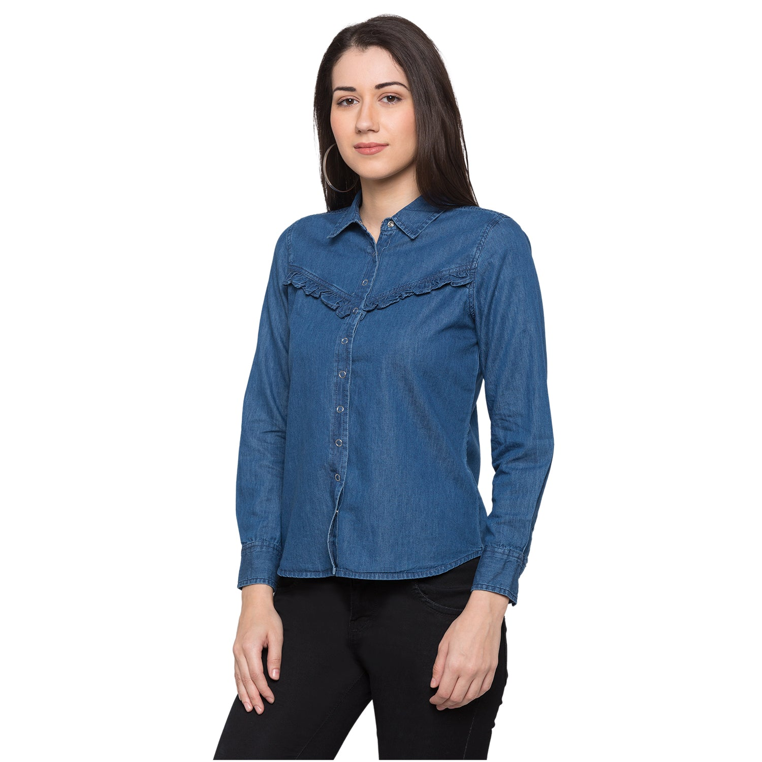 Globus Blue Solid Shirt2