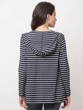 Load image into Gallery viewer, Globus Navy Blue  Striped Shrug-3