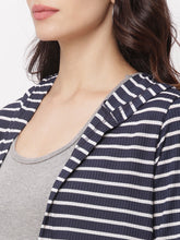 Load image into Gallery viewer, Globus Navy Blue  Striped Shrug-4